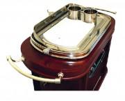 Table roulante pour service hôtelier - Dimensions (L x I x h) : 1200 x 560 x 1120 mm