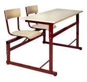 Table scolaire à siège attenant 2 places - Poids (Kg) : 34,60