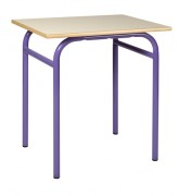 Table scolaire fixe 4 pieds - Livré monté