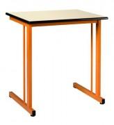 Table scolaire fixe stratifié - Structure monobloc