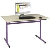 Table scolaire informatique fixe - Structure métallique