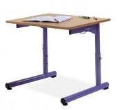 Table scolaire monoplace / biplace - Réglable de taille de 1 à 3