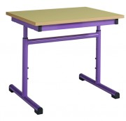 Table scolaire rectangulaire réglable - Livré monté