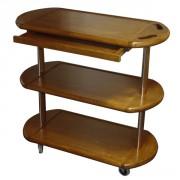 Table service roulante en bois - Dimensions (L x l x h) cm : 95 x 45 x 90
