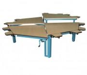 Table Spécial Multi-HV Octogonale - 2 parties avec hauteurs réglables de 500 à 750 mm