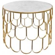 Table structure acier finition laiton - Dimensions : Ø70×52 cm