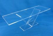 Support de présentation transparent Plexiglas, verre acrylique - Table transparente  verre acrylique