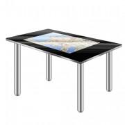 Table tactile interactive 42 à 80 pouces - Finition en verre lisse avec pieds en acier