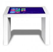 Table tactile interactive à écran 4K - Adaptée aux PMR  -  Matériel d'affichage dynamique pouvant distinguer de 2 à 60 contacts tactiles simultanément.