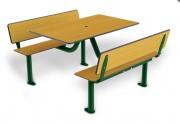 Table terrasse stratifié - Encombrement (mm) : 1550 x 1180