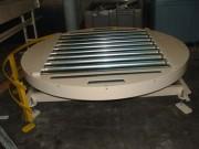 Table tournante à rouleaux - Pour colis moyens et lourds - Rotation de 0 a 360°