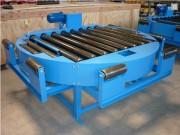 Table tournante transfert avec rotation - Châssis en UPE mécanosoudés monté sur 4 vérins