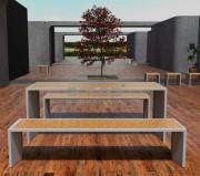 Table urbaine en béton -  Traitement de surface: Imperméable