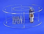 Table vitrine plexi - Avec coffre vitrine - Dimensions (L x l x Ht) : 100 x 75 x 41 cm