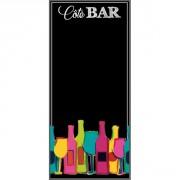 Tableau ardoise côté bar - Impression quadri sur PVC expansé - l 40 x L 100 cm