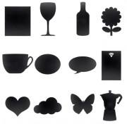 Tableau mural silhouette - Assortiment de diverses formes