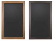 Tableau noir porte menu - Dimensions (L x l x H) : 55 x 1,9 x 90 ou 60 x 1,9 x 100 cm