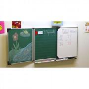 Tableau triptyque enfant - Conforme NF-Htxlg:60x100cm-Surface émaillée-Magnétique