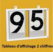 Tableaux d'affichage manuels - Hauteur chiffres : 24cm