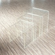Tables basses gigognes en plexiglas - Lot de 3 tables