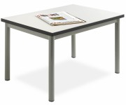 Tables basses H 410 mm - Plateau type M mélaminé ép. 22 mm chant PVC