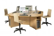 Tables de bureau marguerite - Plateau mélaminé