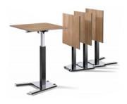 Tables de réunion assis debout - Hauteur de 720 à 1135 mm