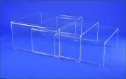 Tables gigognes - Dimensions (L x l) cm : 70 x 75 - 70 x 68 - 70 x 61
