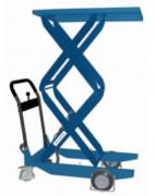Tables hydrauliques manuelles - Capacités : De 150 kg à 800 kg - Plateformes : De 700 x 400 mm à 1010 x 520 mm