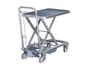 Tables hydrauliques mobiles en inox - Capacités : 100 kg / 200 kg - Hauteurs maxi : 750 mm / 880 mm