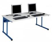 Tables informatiques à dégagement latéral - Livré monté
