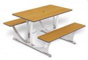 Tables stratifiées - Encombrement (mm) : 1415 x 1180