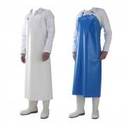 Tablier de travail - Normes  EN 340 / EN 14325 - Blanc ou bleu - polyuréthane