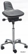 Tabouret assis debout à hauteur réglable - Hauteur d'assise : 54 - 73 cm