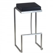 Tabouret bar assise en simili cuir - Hauteur d'assise : 76 cm