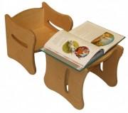 Tabouret bois pour enfants - Hauteur assise (cm) : 14,9 - 19,4 - 30,6