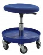 Tabouret d'atelier ergonomique avec porte outils - Hauteur d'assise : 37 - 50 cm