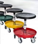 Tabouret d'atelier réglable - Hauteur d'assise réglable entre 31 à 80 cm