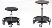 Tabouret d'atelier roulant - Hauteur d'assise réglable entre 31 à 80 cm