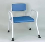 Tabouret de douche pour handicapé - Tube elliptique 38 x 25 mm - En aluminium