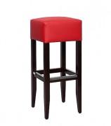 Tabouret en hêtre assise rembourrée - Profondeur : 35 cm - Largeur d'assise : 35 cm - Hauteur d'assise : 82 cm