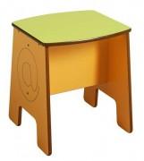 Tabouret enfant en médium - Hauteur d'assise 350 mm
