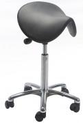 Tabouret ergonomique à roulettes avec siège selle - Hauteur d'assise : 58 - 77 cm
