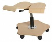 Tabouret ergonomique réglable à roulettes - Réglable en hauteur et pivotant