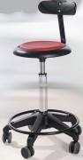 Tabouret ergonomique réglable avec dossier - Hauteur d'assise : 54 - 73 cm