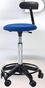 Tabouret ergonomique rembourré avec dossier - Hauteur d'assise : 54 - 73 cm