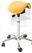 Tabouret ergonomique selle réglable à hauteur - Dimensions du siège (l x P x H) : 385 x 290 x 230 mm