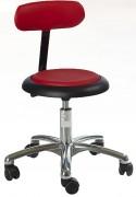 Tabouret ergonomique télescopique avec dossier - Hauteur d'assise : 37 - 50 cm