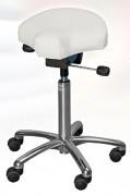 Tabouret selle ergonomique sur roulettes - Dimensions du siège (l x P x H) : 350 x 325 x 90 mm