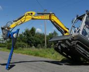 Taille haie hydraulique pour machine agricole - Taille-haies pour mini pelle 2 à 5 tonnes